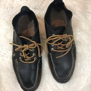 Sperry Shoes - Sperry Top Sider Black full leather high top shoes
